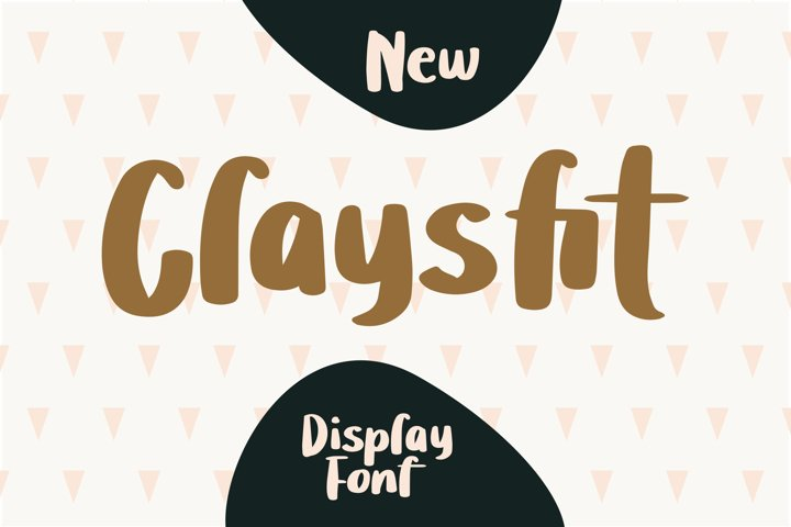 Claysfit - Cute Display Fonts
