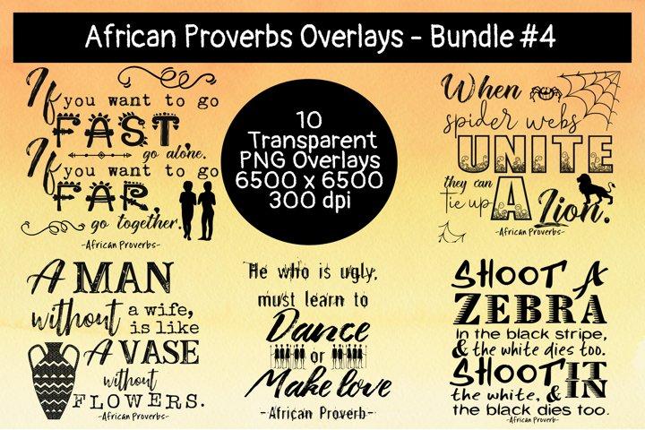 African Proverbs Overlays Bundle #4