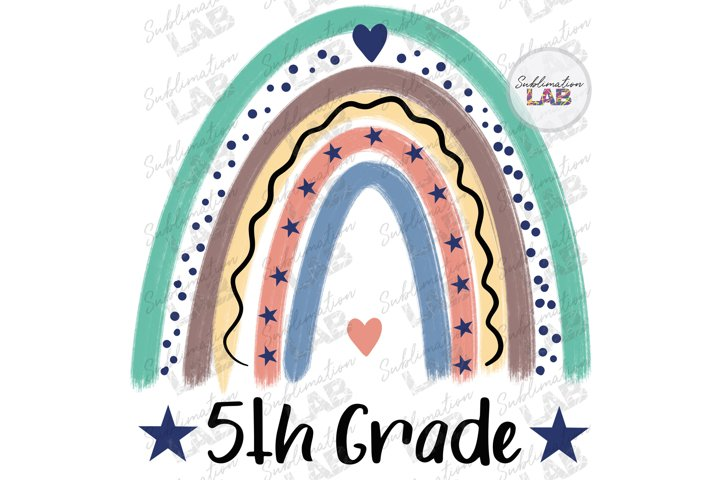 5th Grade School Sublimation Design Fifth Grade Kids Teacher
