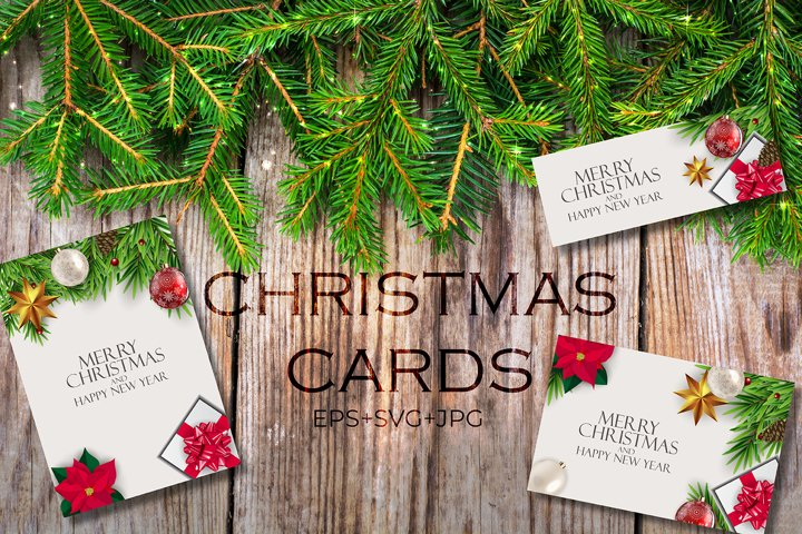 Christmas and New Year backgrounds for postcards, booklets,