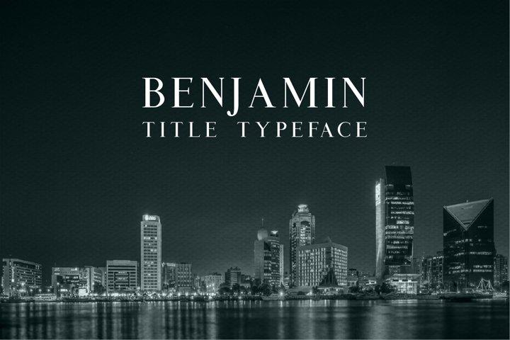 Benjamin Title - Free Font of The Week Font