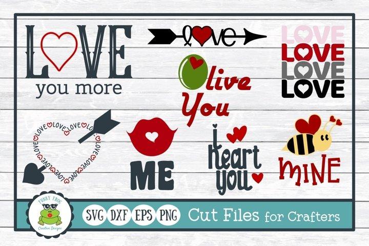 Love Design Bundle, Valentine SVG Cut Files for Crafters