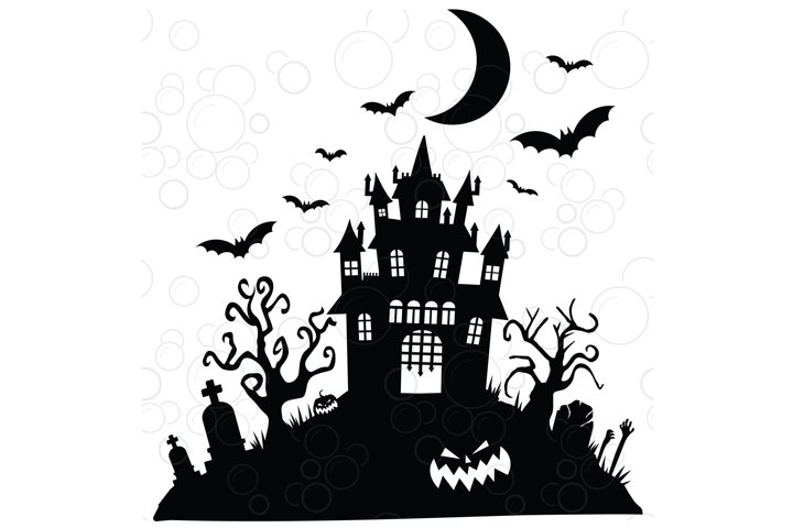 Halloween Castle svg, Halloween svg, Haunted House svg