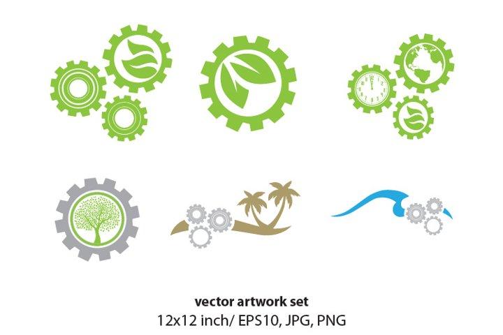 gears - VECTOR ARTWORK SET