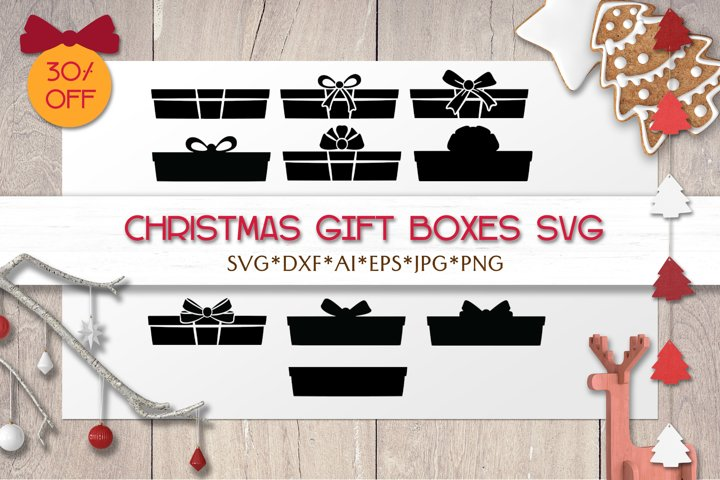 Christmas SVG Gift Boxes | Silhouettes | Laser | Cricut