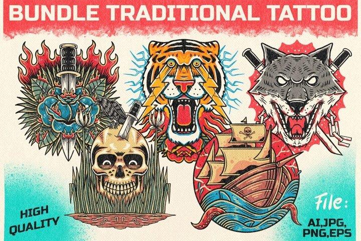 bundle traditional tattoo 2