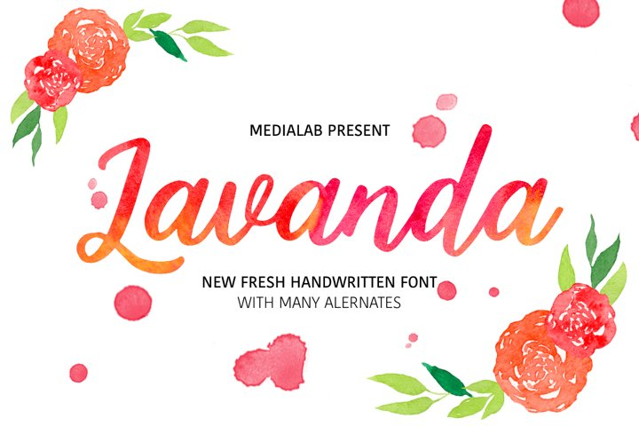 Lavanda - Free Font of The Week Font