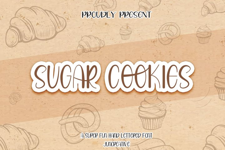 Sugar Cookies A Handlettered Font