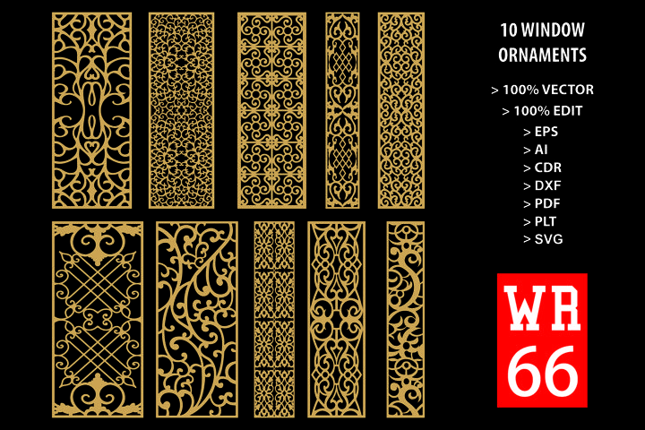 WR 66, Carved Window Ornaments Laser Cutting