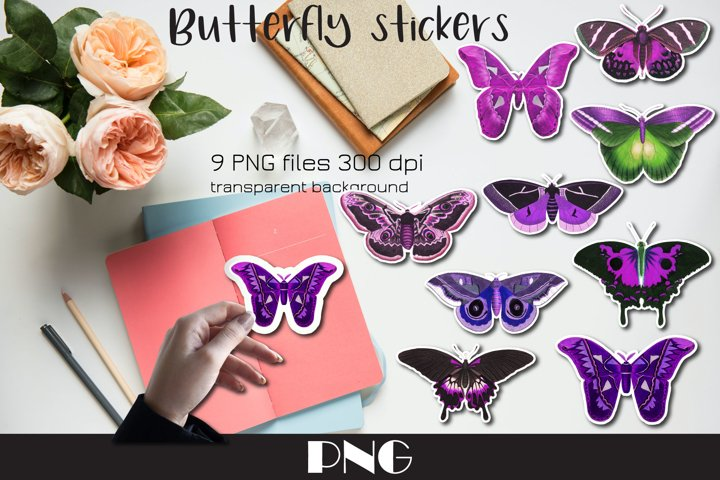 Butterfly PNG 9 Butterfly stickers Clipart