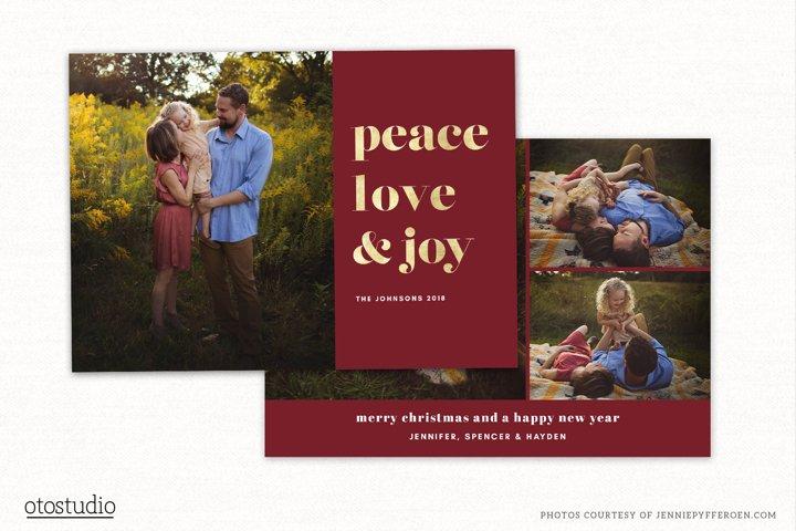 Christmas Card Template for Photographers CC197