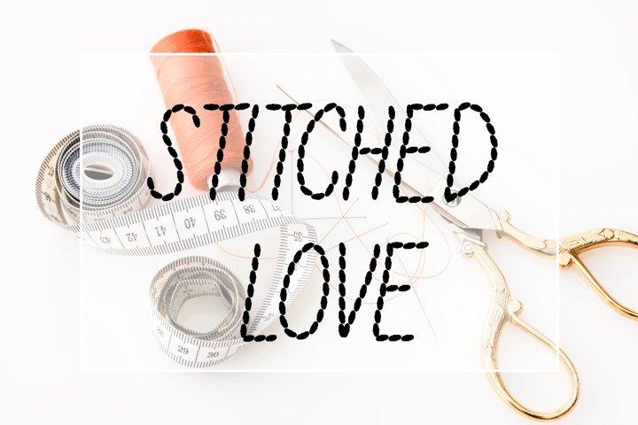 Stitched Love Font