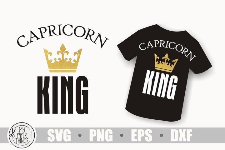 Capricorn king svg, Horoscope svg, Birthday svg, Zodiac sign