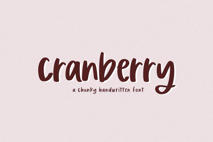 Cranberry - A Handwritten Font