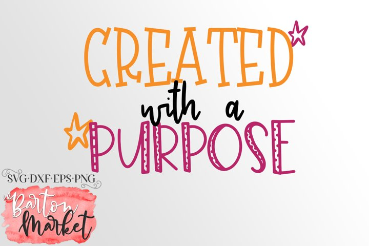 Created With A Purpose SVG DXF EPS PNG example