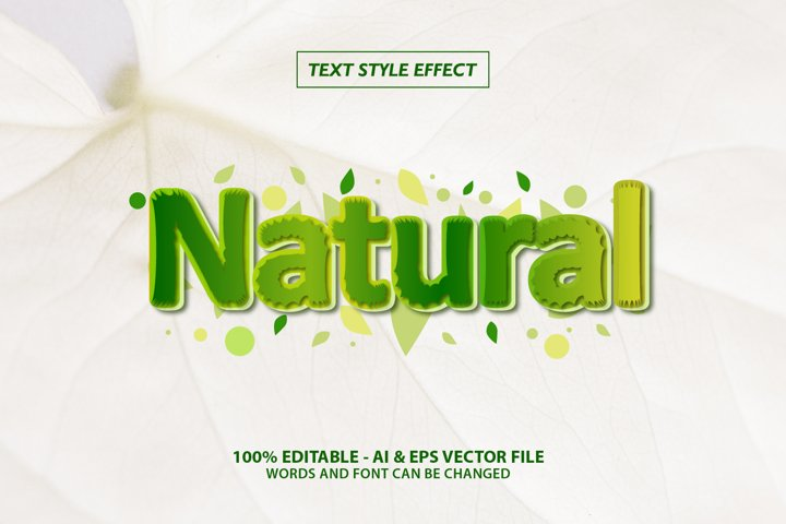 Natural Text Style Effect Editable
