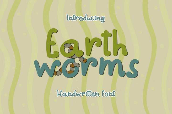 Earthworms - A Playful Handwritten Font