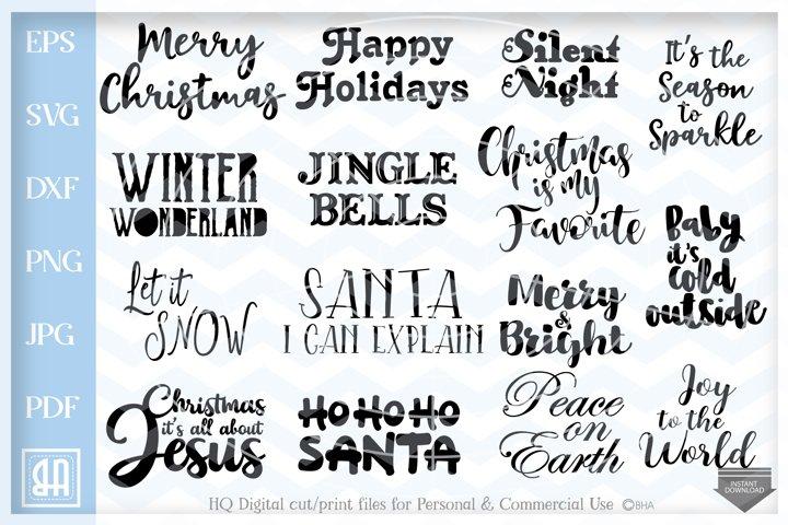 Christmas Sayings Bundle SVG, Christmas Quotes bundle svg