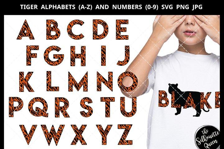 Tiger Alphabet Number SVG Cut File