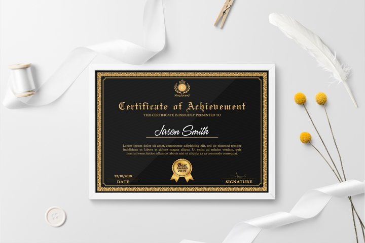 Certificate Template | Photoshop and MS Word Template