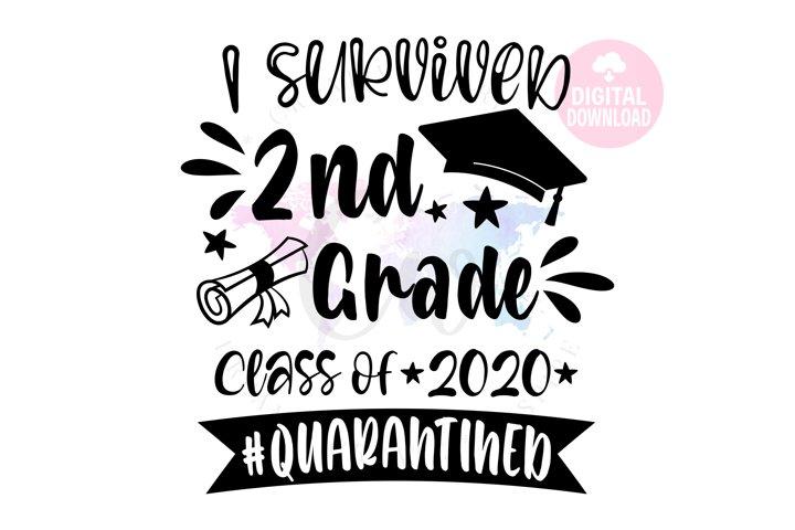 I Survived 2nd Grade 2020| School SVG | Quarantined SVG