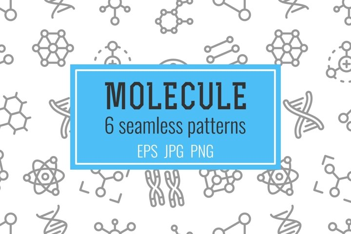 6 molecule seamless patterns