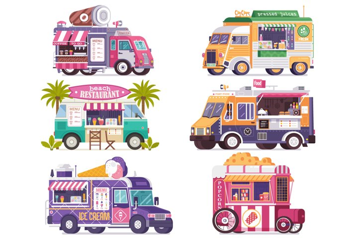 City Fast Food Trucks and Wagons