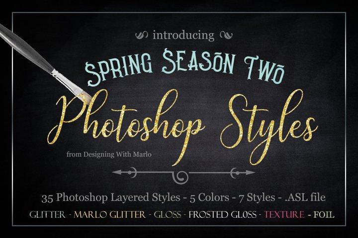 Spring Season Two - Layered Photoshop Styles