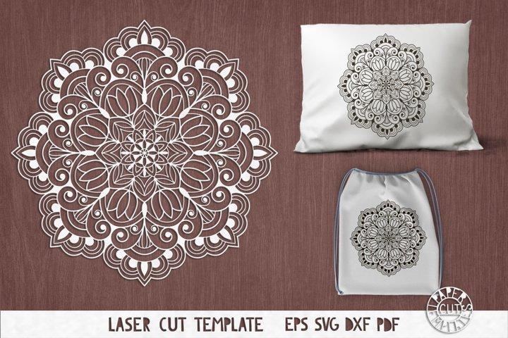 SVG mandala cut file for laser cutting, Cricut, Silhouette.