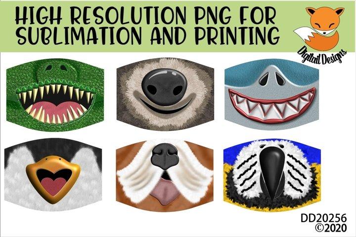 Animal Mouth Face Sublimation Bundle For Masks