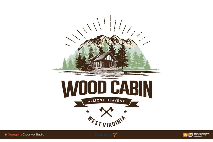 Vector illustration of cabin