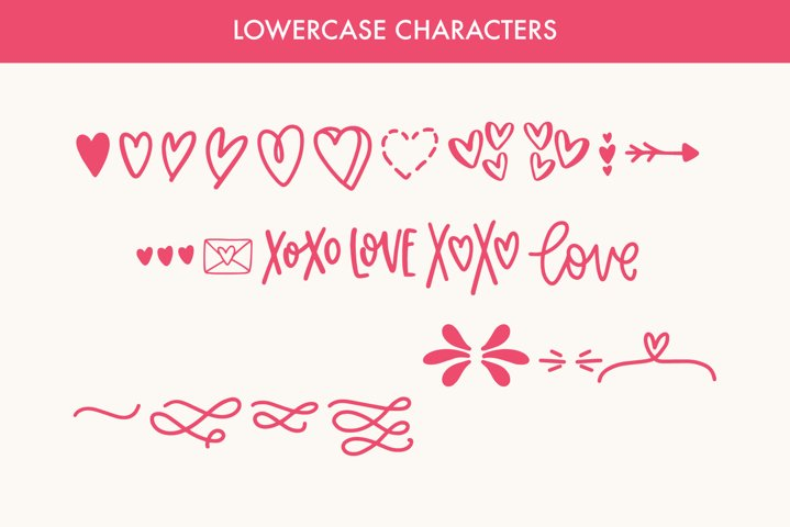 Love Struck, Thick Valentine's Heart Font - Free Font Of The Week Design0