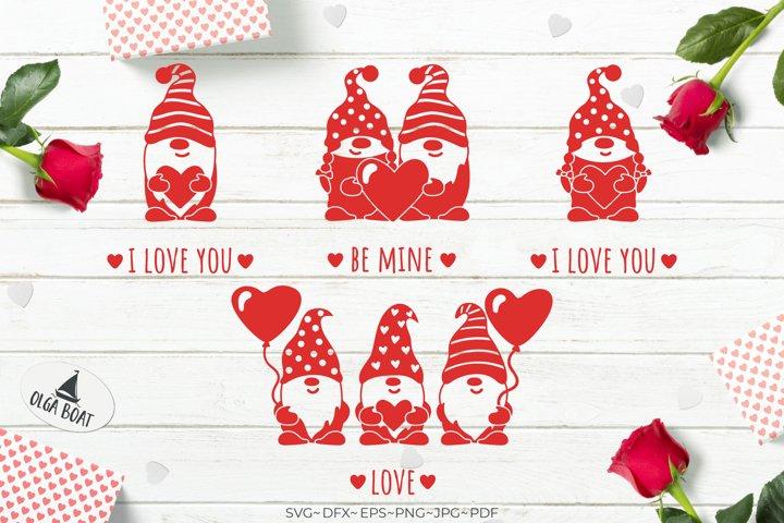 Gnome svg Gnome Valentine Heart Gnome bundle Gnome girl
