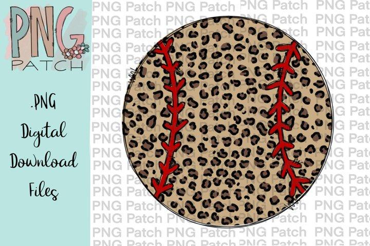 Leopard Print Softball\Baseball, Softball\Baseball PNG File