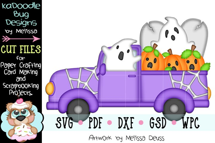 Halloween Ghost Truck Cut File - SVG PDF DXF GSD WPC