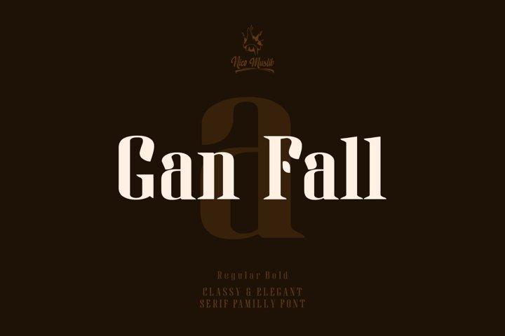 Gan Fall || Serif Condensed Font
