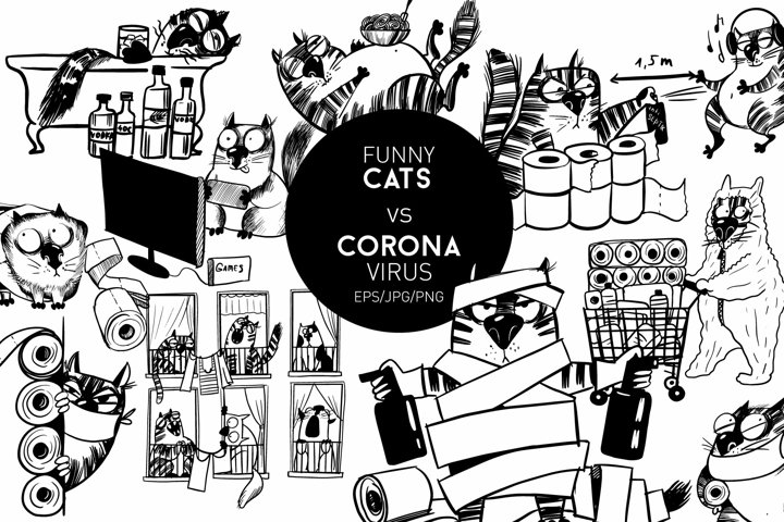 Funny cats vs corona virus