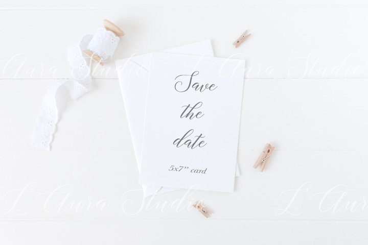 Wedding invitation mockup - Psd/Png