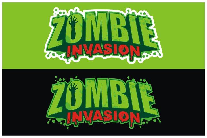 Zombie Invasion Logo Design