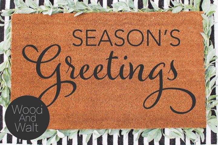Seasons Greetings SVG | Holiday Cut File