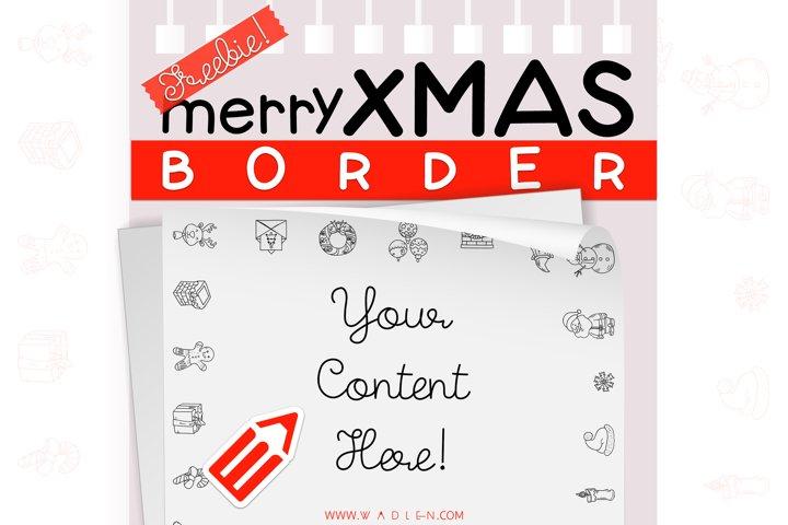 Merry Xmas - Border Template