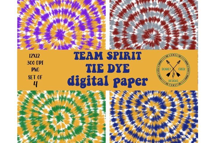 Team Spirit Tie Dye Digital Paper Pack