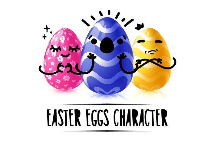 Collection of Easter eggs character