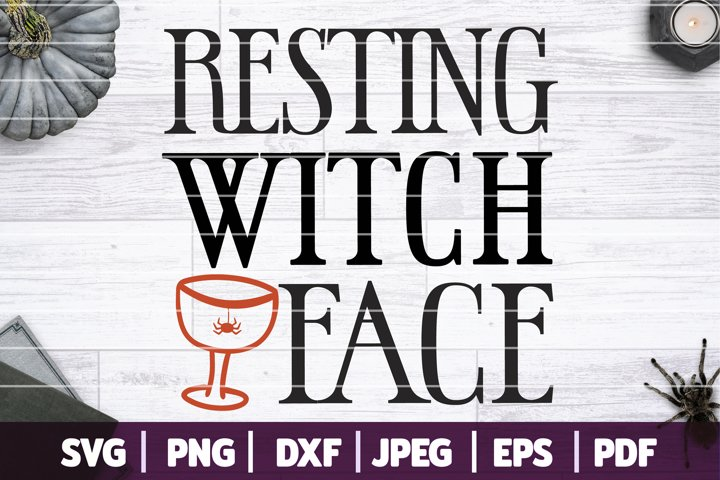 Resting Witch Face SVG, Funny Halloween SVG