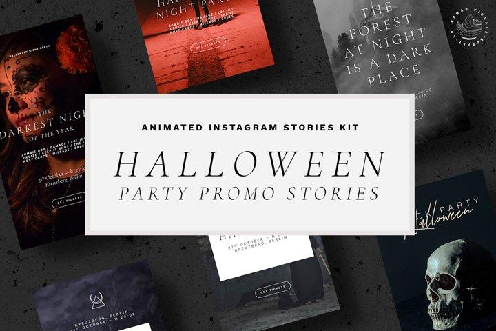 Halloween Animated Instagram Stories Templates - Event Promo