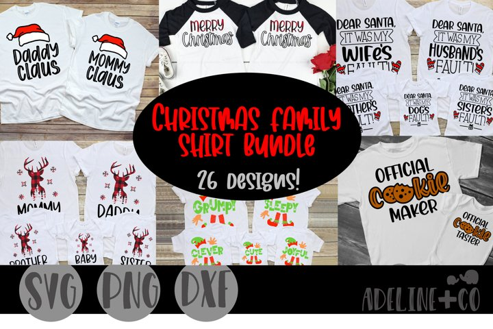 Christmas family shirt bundle, SVG, PNG, DXF