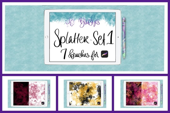 FC-splatter-set1 Brushes for PROCREATE