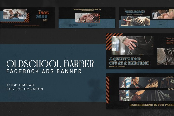 Oldschool Barbershop Facebook Ads
