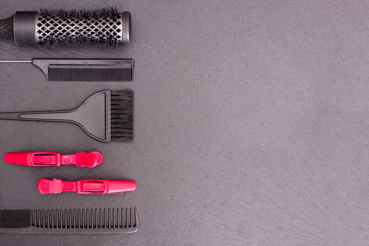 Salon Hairdresser Accessories, Comb, application brush