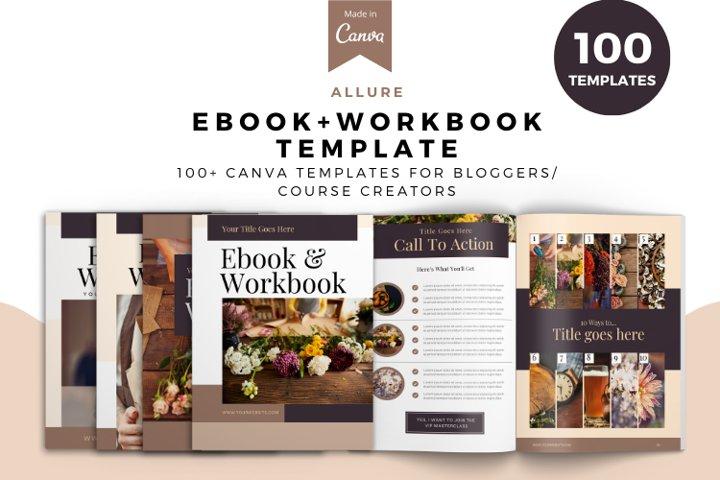 ALLURE Workbook Canva Template, Workbook template